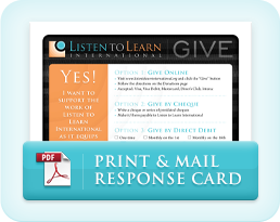 Listen to Learn Response Card